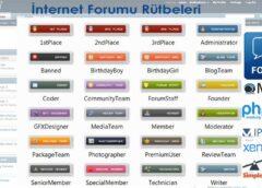 İnternet Forum Rütbeleri